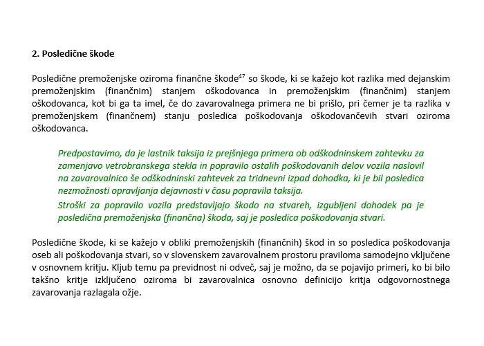 Poglavje 3 - Osnovni principi delovanja odgovornostnih zavarovanj (Posledične škode)