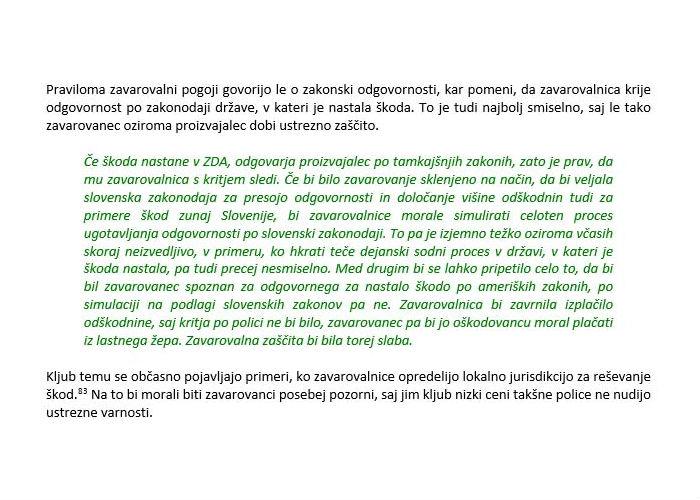 Poglavje 4 - Zavarovanje proizvajalčeve odgovornosti (Predstavitev kritja proizvajalčeve odgovornosti - Vprašanje jurisdikcije)